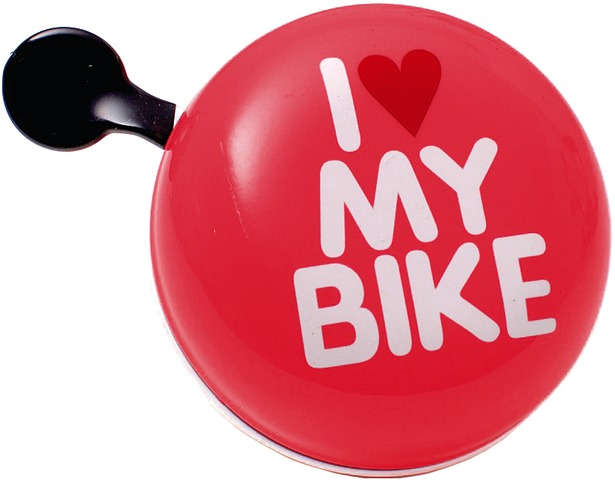 Brave Bicycle Bell I Love My Bike Ø80mm Steel - Red