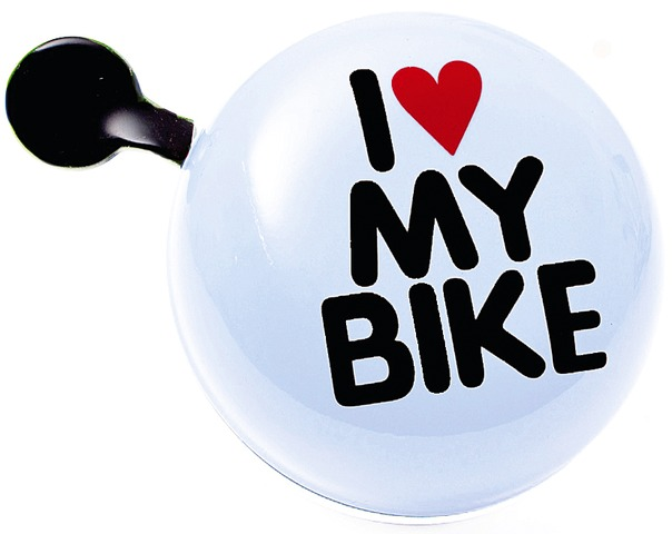 Brave Bicycle Bell I Love My Bike Ø80mm Steel - White