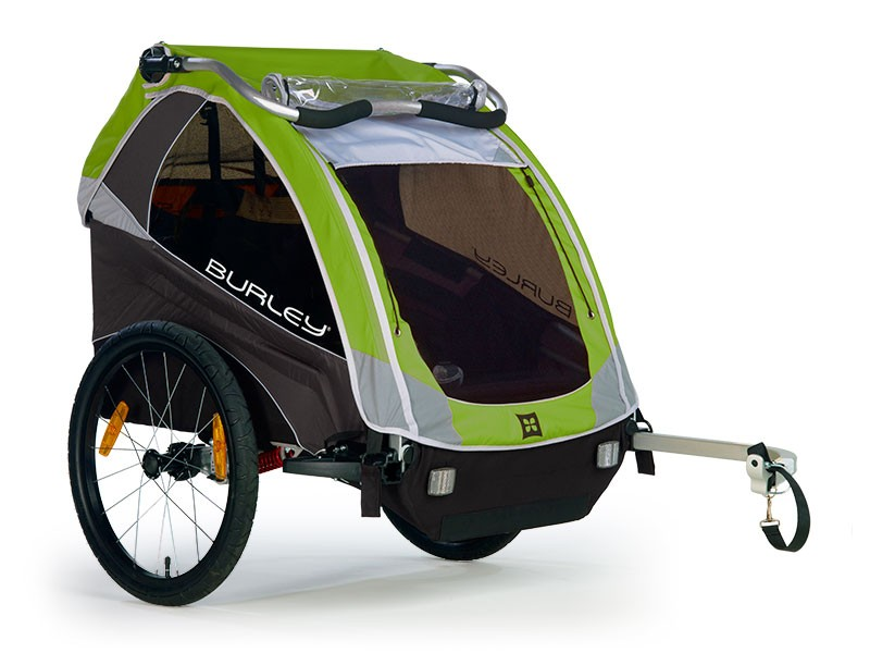 Burley Bicycle Trailer Dlite With Cover Green