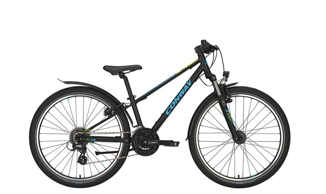 Conway MC 301 Boys Bicycle 26 Inch 31cm 24S - Black/Blue