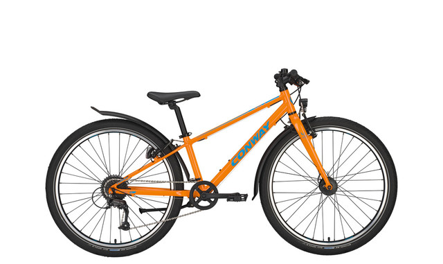 Conway MC 301 Boys Bicycle 26 Inch 31cm 9S - Orange/Blue