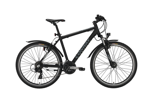 Conway MC 400 Boys Bicycle 26 Inch 44cm 24S - Black/Gray