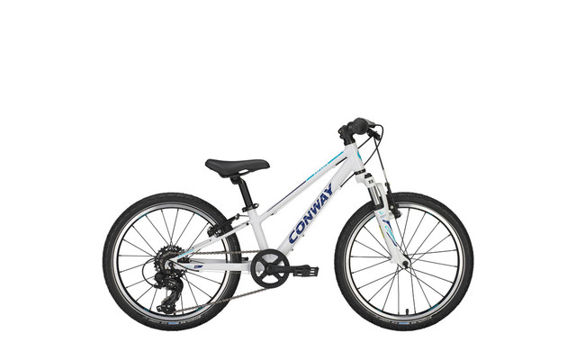 Conway MS 100 Boys Bicycle 20 Inch 23cm 7S - White/Turquoise
