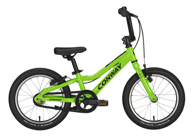 Conway MS 16 Boys Bicycle 16 Inch 20cm 1S - Green/Black