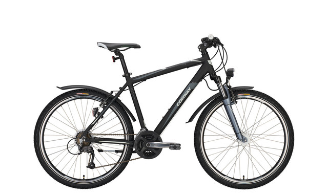 Conway MTB MC 400 26 Inch 38cm 21V - Matt Black/Gray