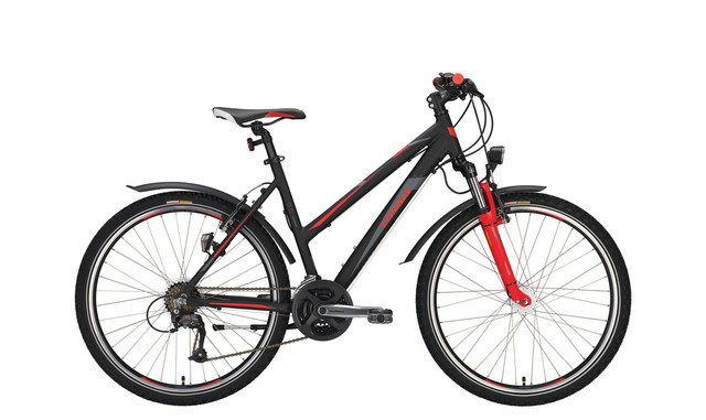 Conway MTB MC 400 Ladies 26 Inch 44cm 21V - Matt Black/Red