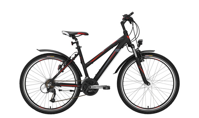 Conway MTB MC 400 Ladies 26 Inch 52cm 21S Matt Black/Red