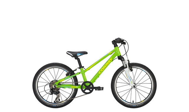 Conway MTB MS100 20 Inch Diamond 23cm 7V - Green/Yellow