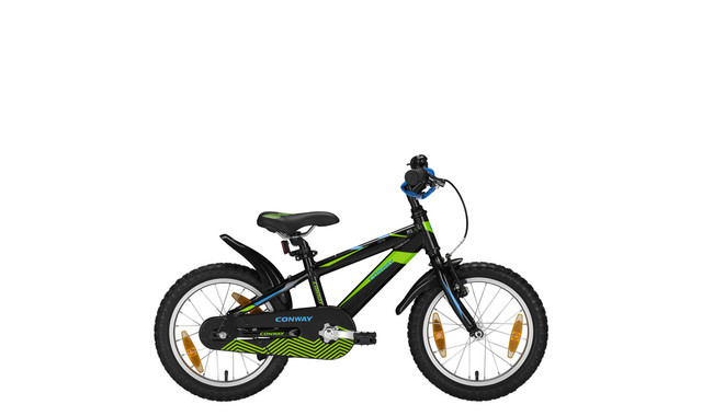 Conway MTB MS16 Diamant 16 Inch 23cm Black/Lime