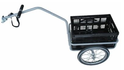 Bike Trailer with Plastic Box 45L Steel Black