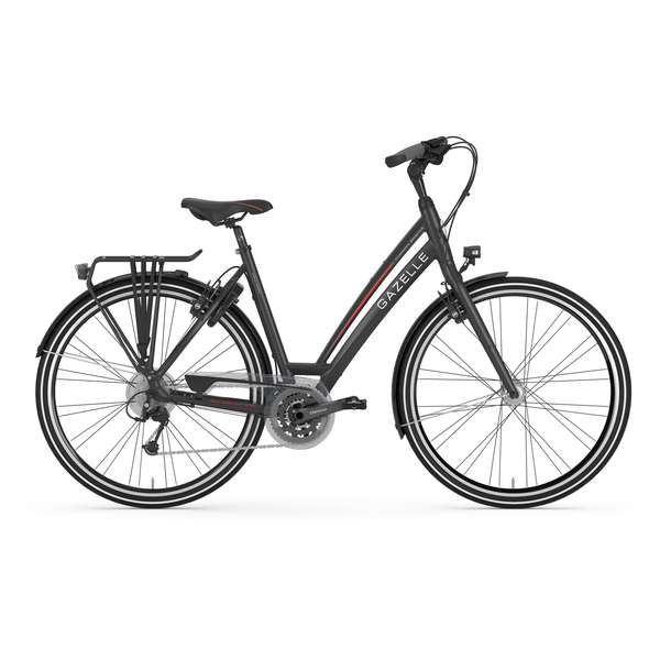 Gazelle Ladies Bike Charmonix S30 57cm 30V Matt Black