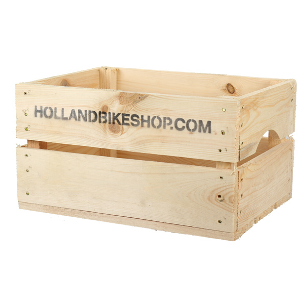 HBS Wooden Bicycle Crate 32x42cm Natural