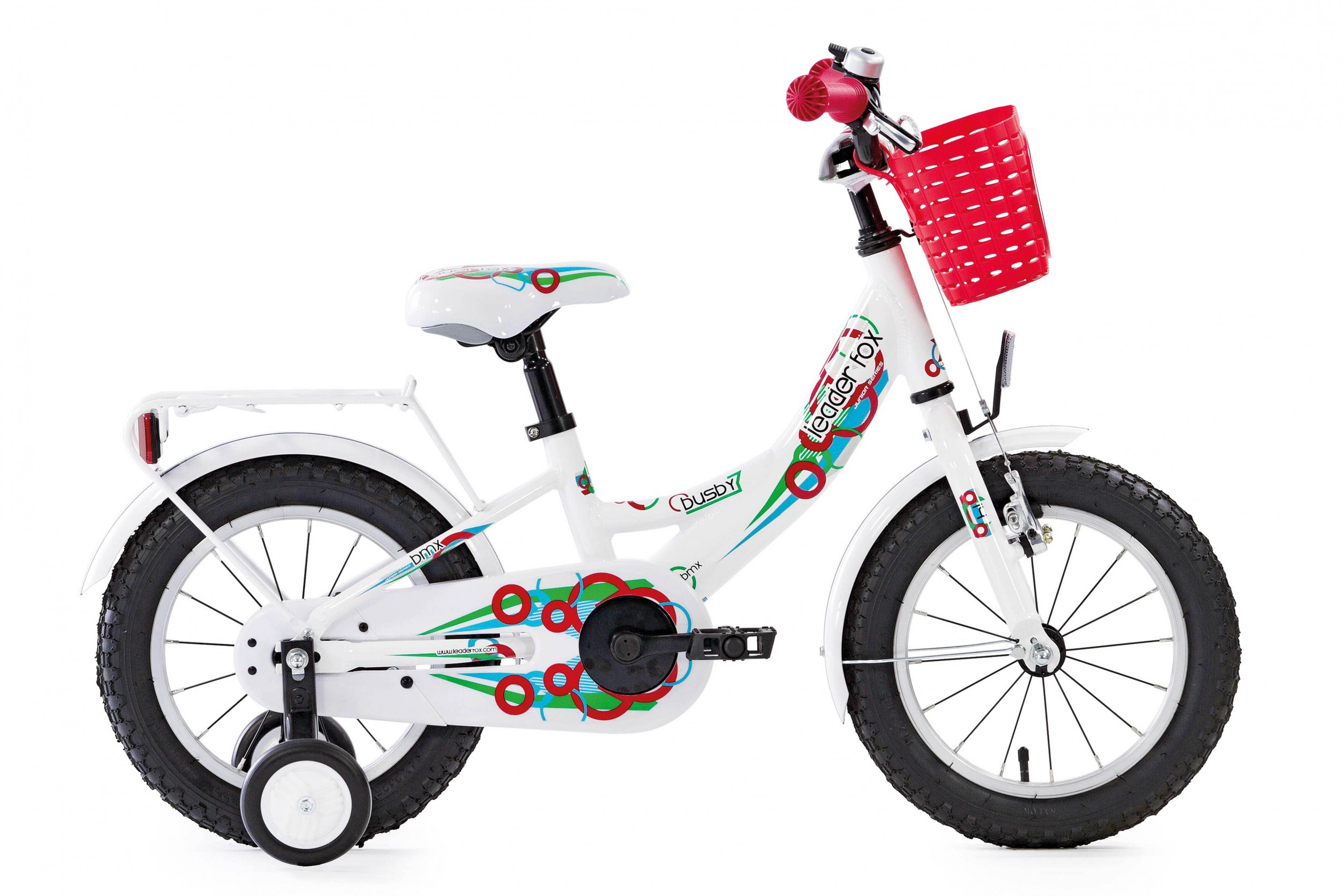 Leader Fox Busby Girls Bicycle 14 Inch 20cm - White