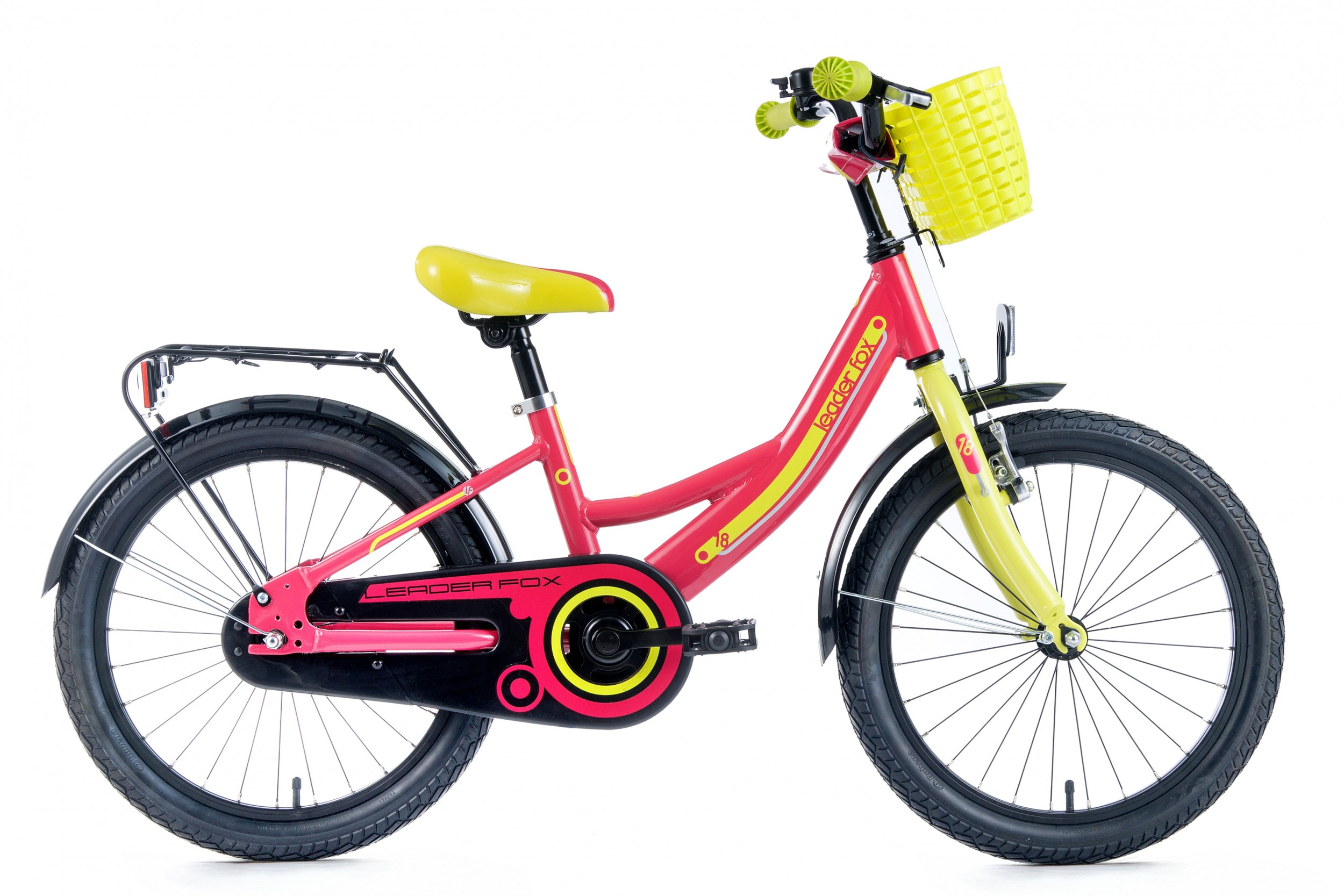 Leader Fox Busby Girls Bicycle 18 Inch 25cm - Pink