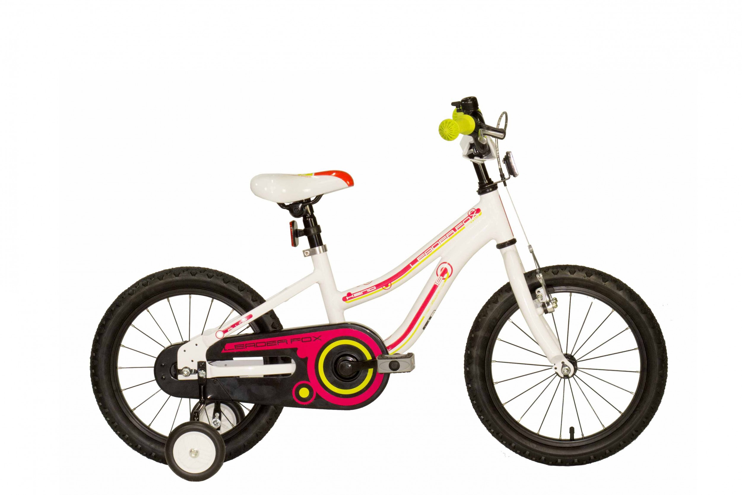 Leader Fox Keno Girls Bicycle 16 Inch 23cm - White