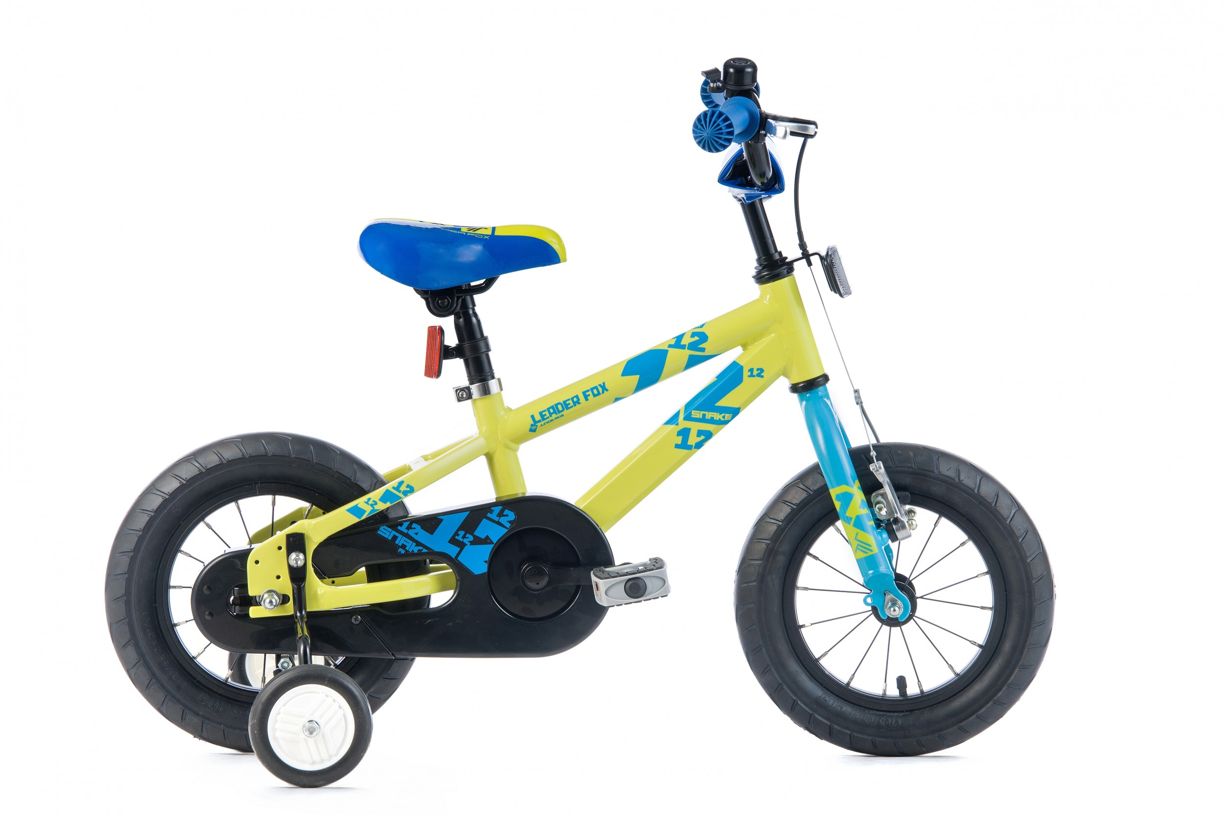 Leader Fox Snake Boys Bicycle 12 Inch 18cm - Green