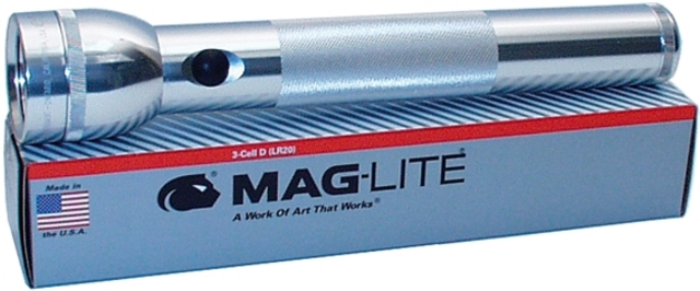 Mag-Lite Flash Light 3x D-Cell 32cm Silver