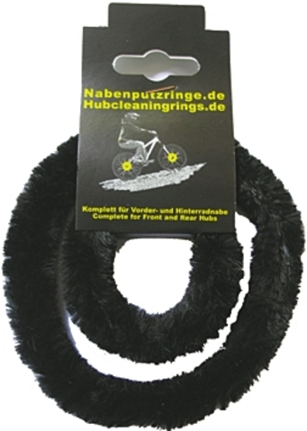 Hub Cleaning Rings for Gear Hubs Synthetic Hairs Black (2)