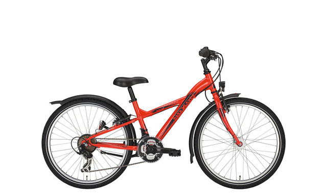 Noxon Arrow ND Boys Bicycle 24 Inch 36cm 3S - Neon Red