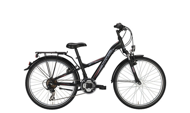 Noxon Boys FG ND Boys Bicycle 24 Inch 34cm 21S - Matt Black
