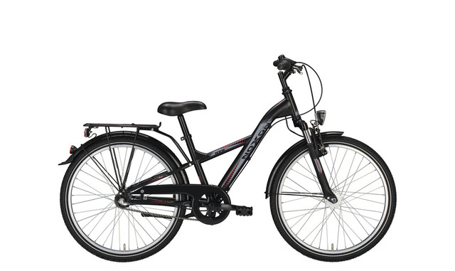 Noxon Boys FG ND Boys Bicycle 24 Inch 34cm 7S - Matt Black