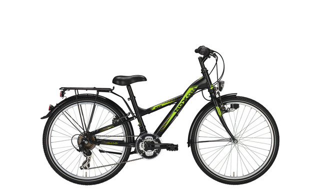 Noxon Boys Boys Bicycle 24 Inch 34cm 21S - Matt Black