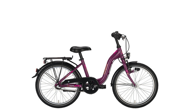 Noxon Girls Girls Bicycle 24 Inch 36cm 3S - Pearl Violet