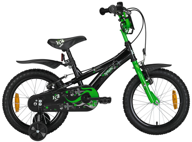Noxon Boys Bike BMX H2 16 Inch Brake Hub Black/Green