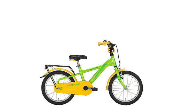 Noxon Kids Boys Bicycle 16 Inch 26cm 1S - Green/Yellow