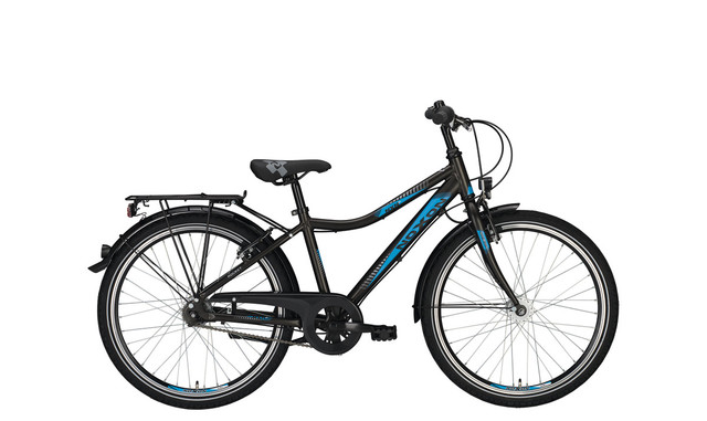 Noxon Rocket ND Boys Bicycle 24 Inch 36cm 3S - Gray/Blue