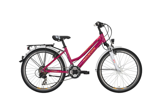 Noxon Rocky FG ND Girls Bicycle 24 Inch 36cm 21S - Purple