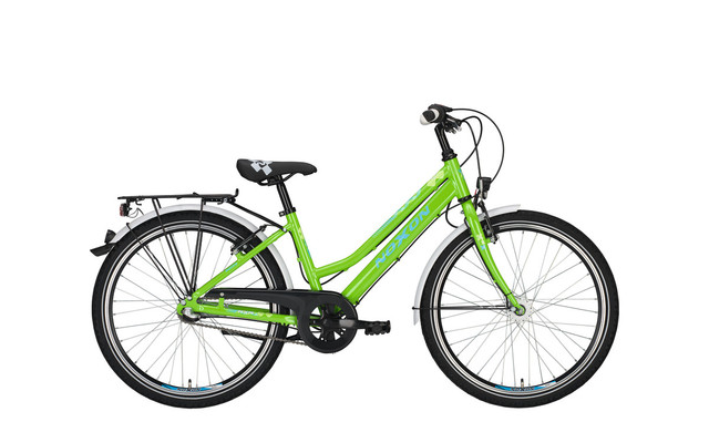 Noxon Rocky ND Girls Bicycle 24 Inch 36cm 7S - Green