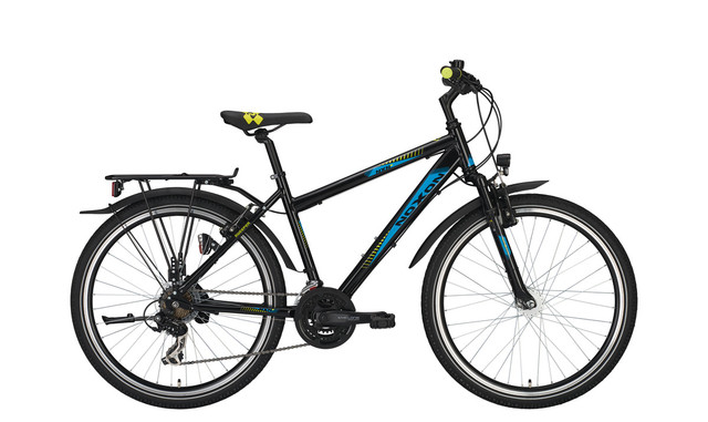 Noxon Sweeper FG ND Boys Bicycle 26 Inch 45cm 21S - Black