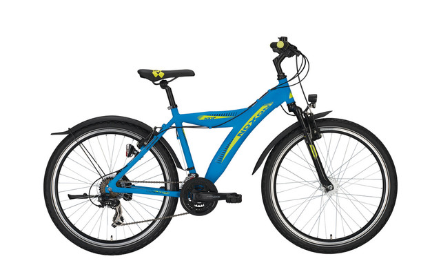 Noxon Wild Heater FG ND Boys Bicycle 26 Inch 50cm 21S Blue