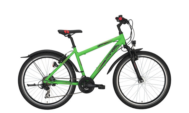 Noxon Wild Heater FG ND Boys Bicycle 26 Inch 50cm 21S Green