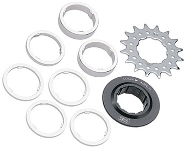 Point Single Speed Sprocket 15T with Spacers/Lock Ring