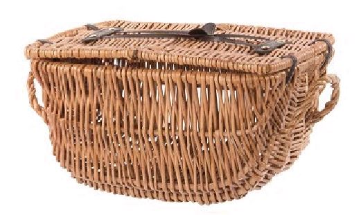 Wicker Bicycle Basket Oval Medium