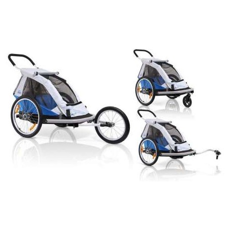Xlc Bicycle Trailer Mono 1  Silver/Blue Powered By Croozer